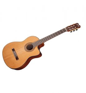 Jasmine JC27-Natural Classical Acoustic Electric Cutaway Solid Top Guitar