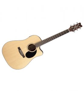 Jasmine JD36CE Natural Dreadnought Acoustic Electric Cutaway Guitar