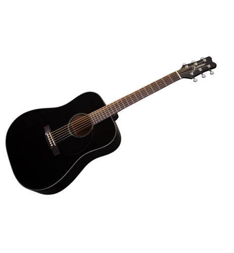 Jasmine JD39 Black Dreadnought Guitar with case also available in Natural and Sunburst