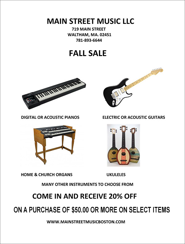 Fall Sale Flyer for 20% off